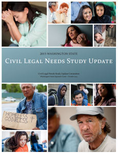 2015 Washington State Civil Legal Needs Study Report