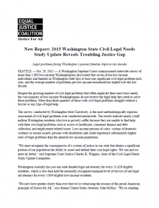 Civil Legal Needs Study Update - Oct 29, 2015 Press Release